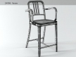 Navy Counter Stool With Arms 4