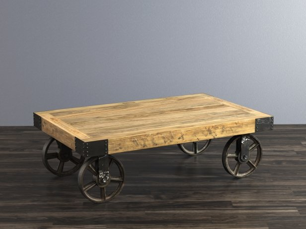 Industrial Cart Coffee Table 5