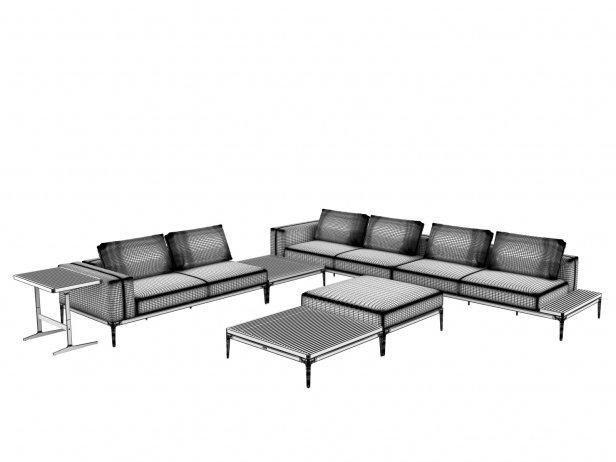 Outdoor Corner Sofa Comp C 3