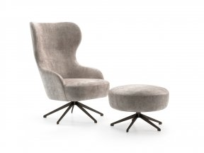 Melania Armchair and Pouf