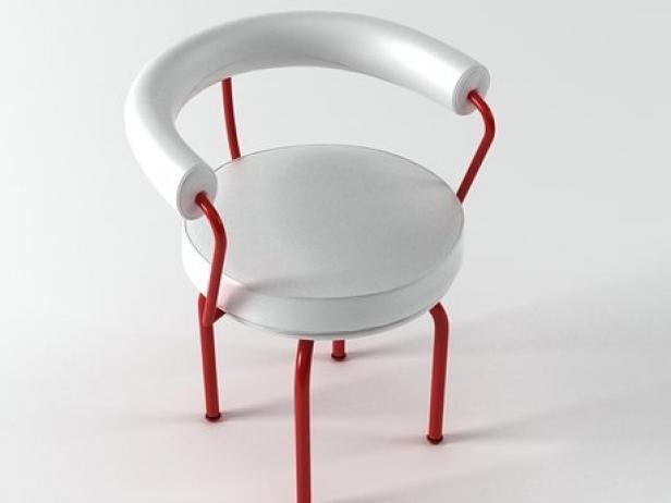 Le Corbusier LC7 3d model | Cassina