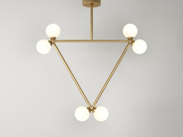 Triangle 2 Globe Pendant Lamp 1