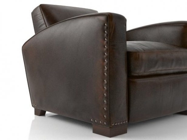 Merveilleux Library Leather Chair 1