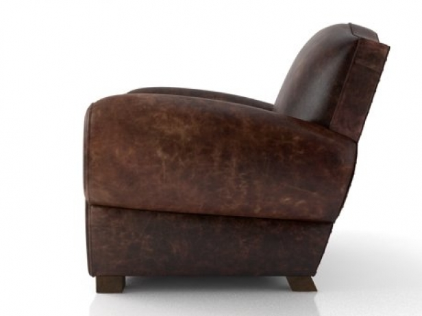 1940s French Mustache Leather Club Chair 7