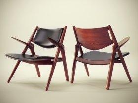 CH28 Sawhorse Easy Chair
