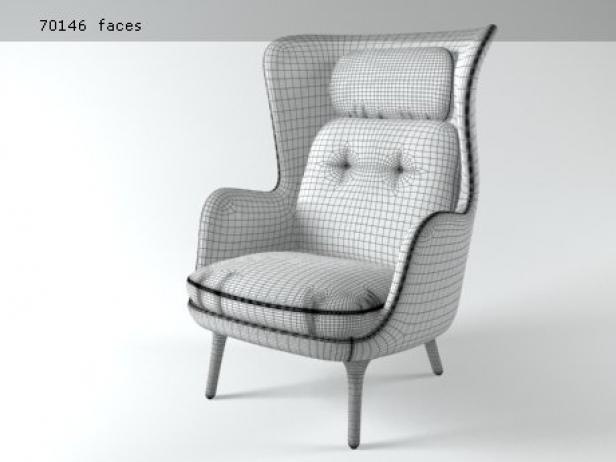 Ro 3d modell fritz hansen for Sessel 3d dwg