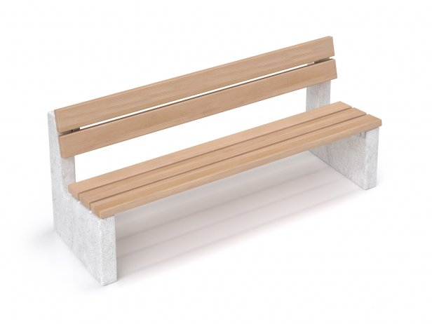 Maro Outdoor Bench with Backrest 2