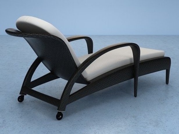 tango chaise longue 3d model dedon