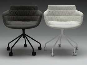 Flow armchair 5 legs