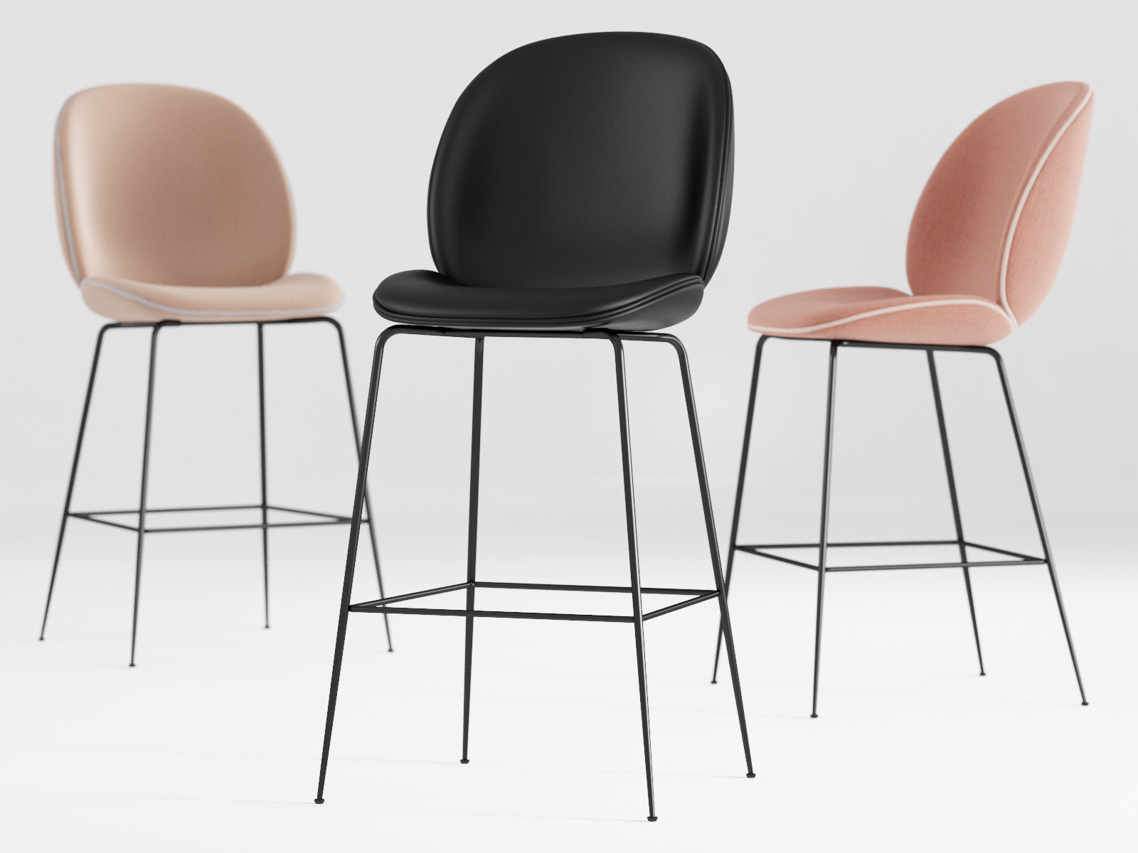 Beetle Barstool 3d Model Gubi