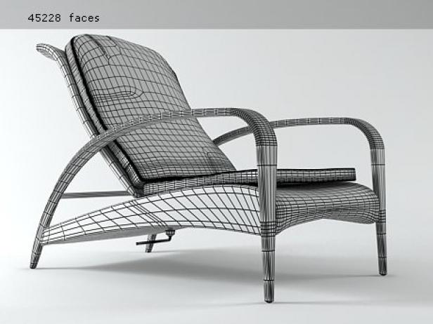 tango recliner 3d model dedon