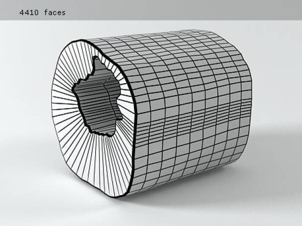 Slice Of Teak 3DModell  Chista
