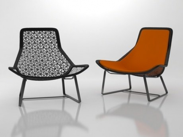 Maia lounge chair 3d model kettal for Kettal maia chair