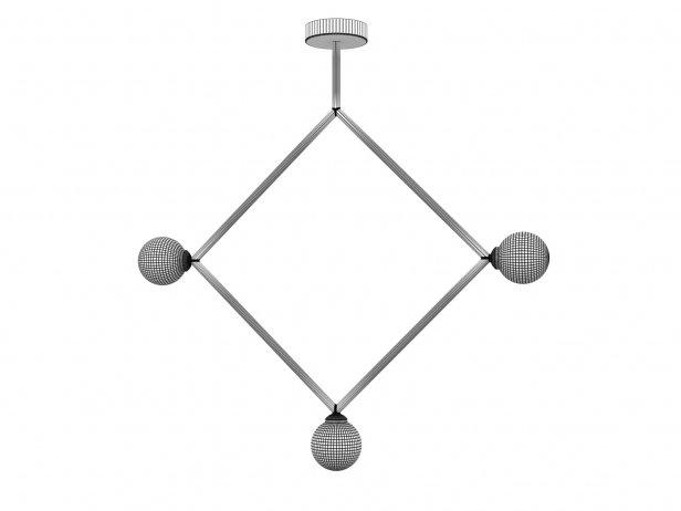 Rhombus 1 Globe Pendant Lamp 2