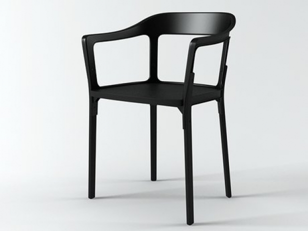 Steelwood chair 3d model magis for Magis steelwood