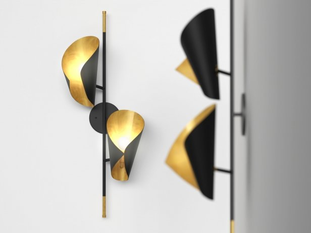 Cigale Double Sconce Wall Lamp 1