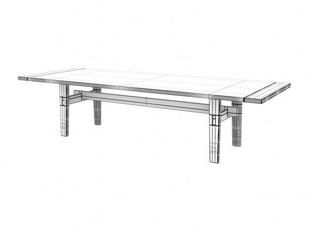 Home Hotel Rectangular Dining Table 6