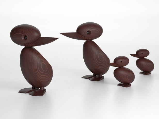 Wooden Duck and Duckling 4