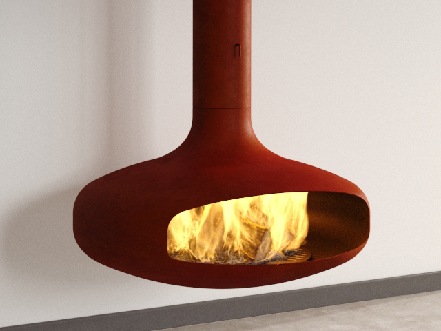 Domofocus Fireplace 3d Model Focus