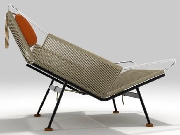 PP225 Flag Halyard Chair 3d model