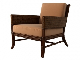 Rawhide Weave Lounge Chair