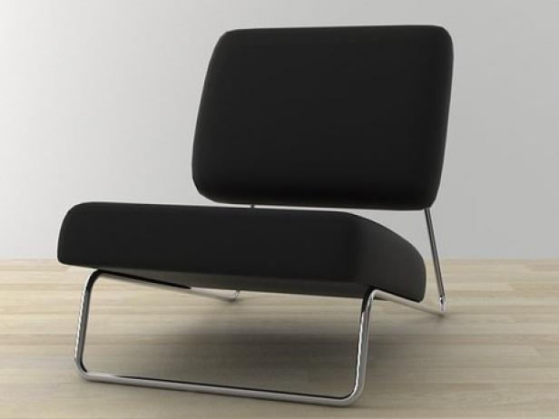 hirche lounge 3d model richard lampert. Black Bedroom Furniture Sets. Home Design Ideas