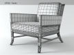 Rawhide Weave Lounge Chair 5