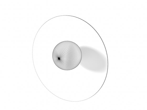 Disc and Sphere Asymmetric Wall Lamp 4