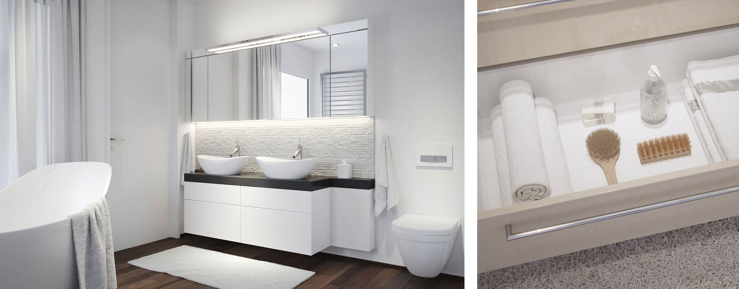CGI visuals by Design Connected for Talsee bathroom