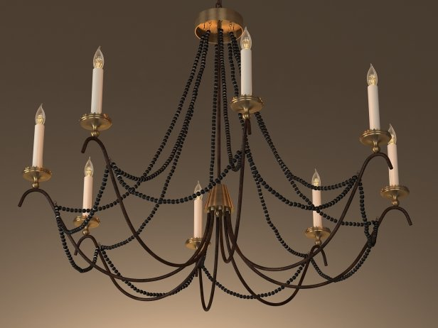 18th C Italian Bead Chandelier 45 4