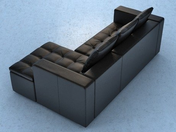 mezzo sofa 3d model boconcept. Black Bedroom Furniture Sets. Home Design Ideas