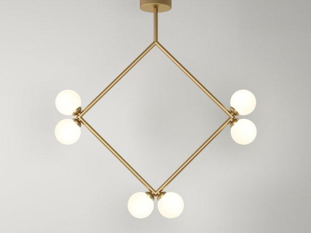 Rhombus 2 Globe Pendant Lamp 1