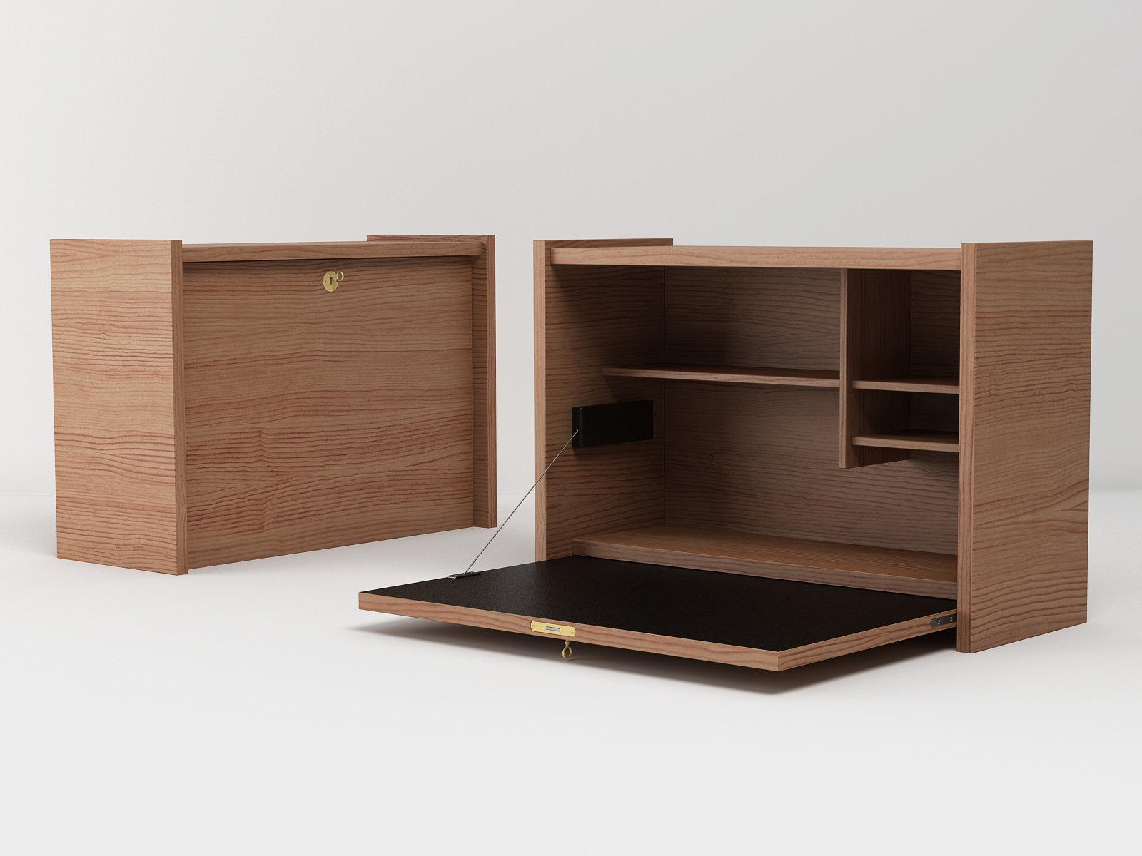 le secr taire mural 3d model ligne roset. Black Bedroom Furniture Sets. Home Design Ideas