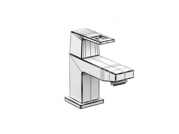 Cube Wall-hung Basin 45 Set 10
