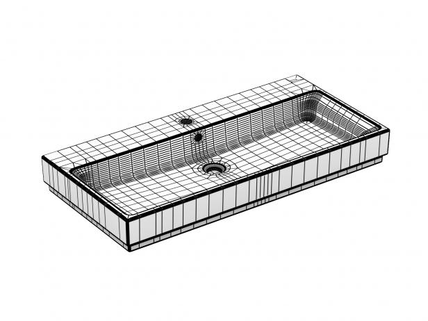 Cube Countertop Basin 100 Set 17