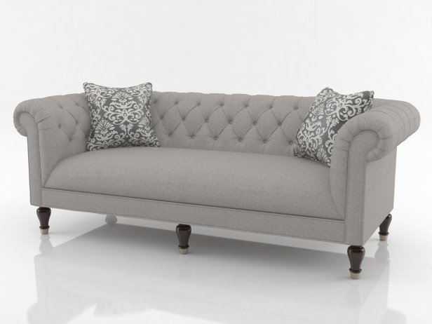 Chesterfield sofa  Chesterfield sofa 3d model | Bassett