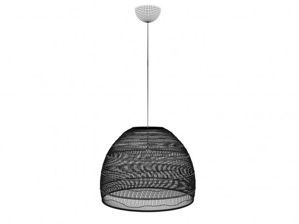 Wicker Hanging Lamp Large 3