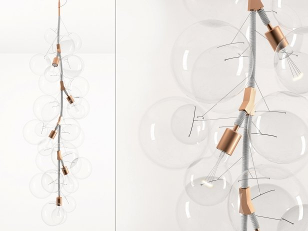 X-Tall Bubble Chandelier 1