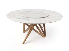 Ennea Dining Table with Lazy Susan