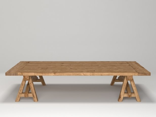 Benson Sawhorse Coffee Table 6