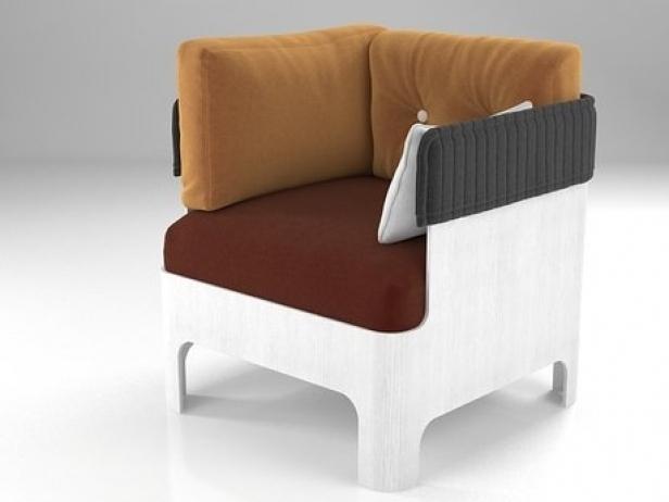 Koja low 3d modell bl station for Sessel 3d dwg