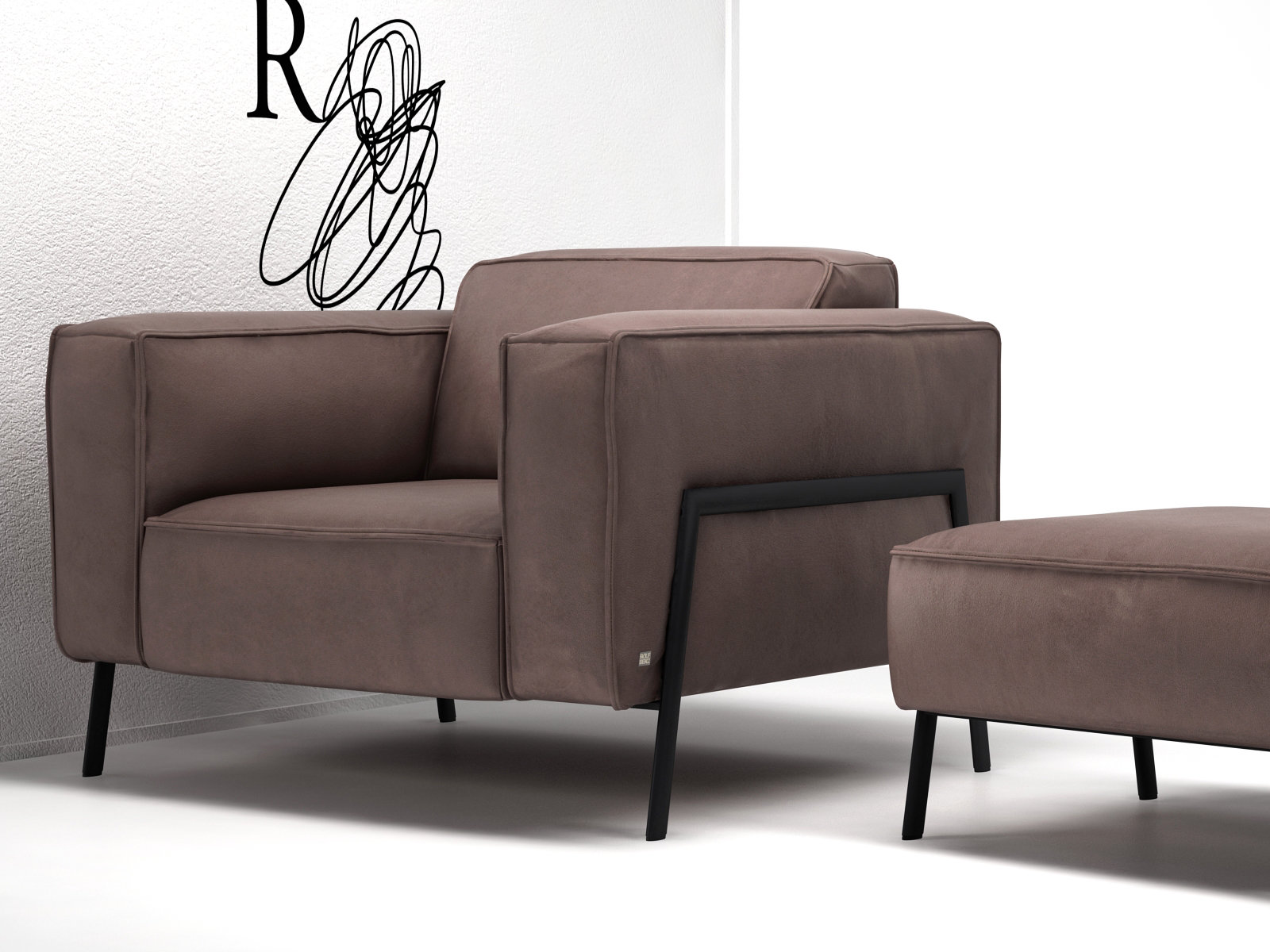 bacio armchair 3d model rolf benz. Black Bedroom Furniture Sets. Home Design Ideas