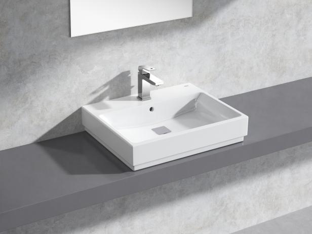 Cube Countertop Basin 60 Set 1