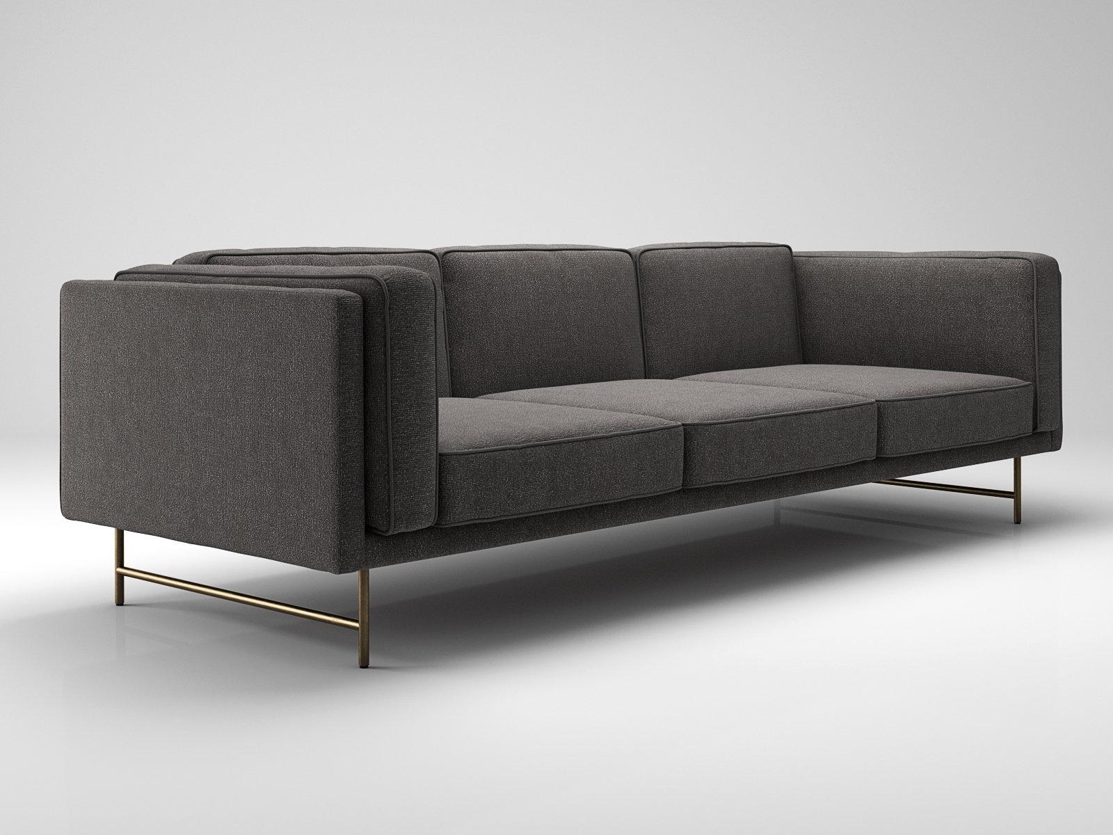 bank sofa 3 seater modello 3d blu dot. Black Bedroom Furniture Sets. Home Design Ideas