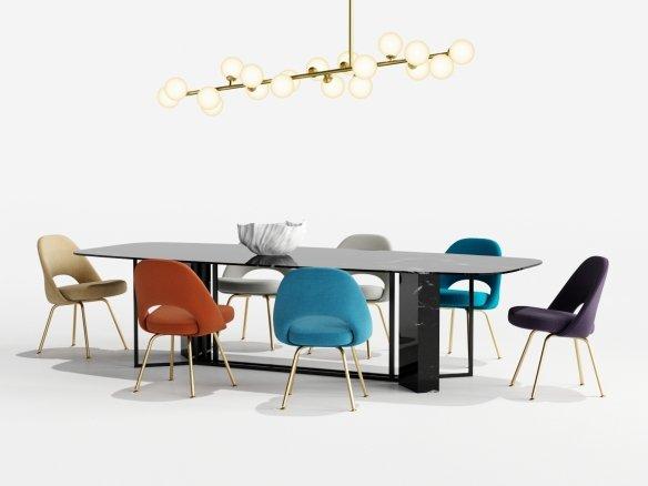 Saarinen Color Dining Set