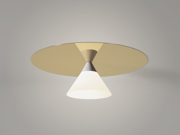 Plate and Cone Ceiling Lamp 2