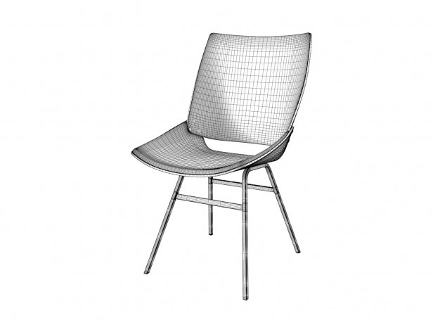 Shell Chair with Seat Cushion 4