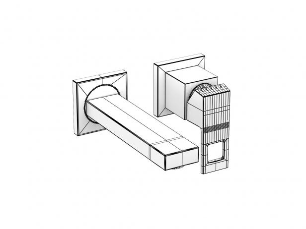 Cube Countertop Vessel 50 Set 20