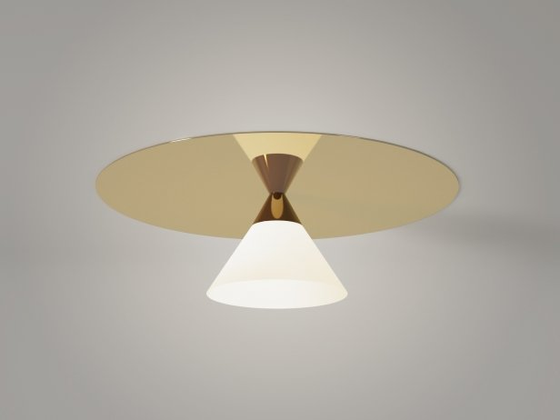 Plate and Cone Ceiling Lamp 1