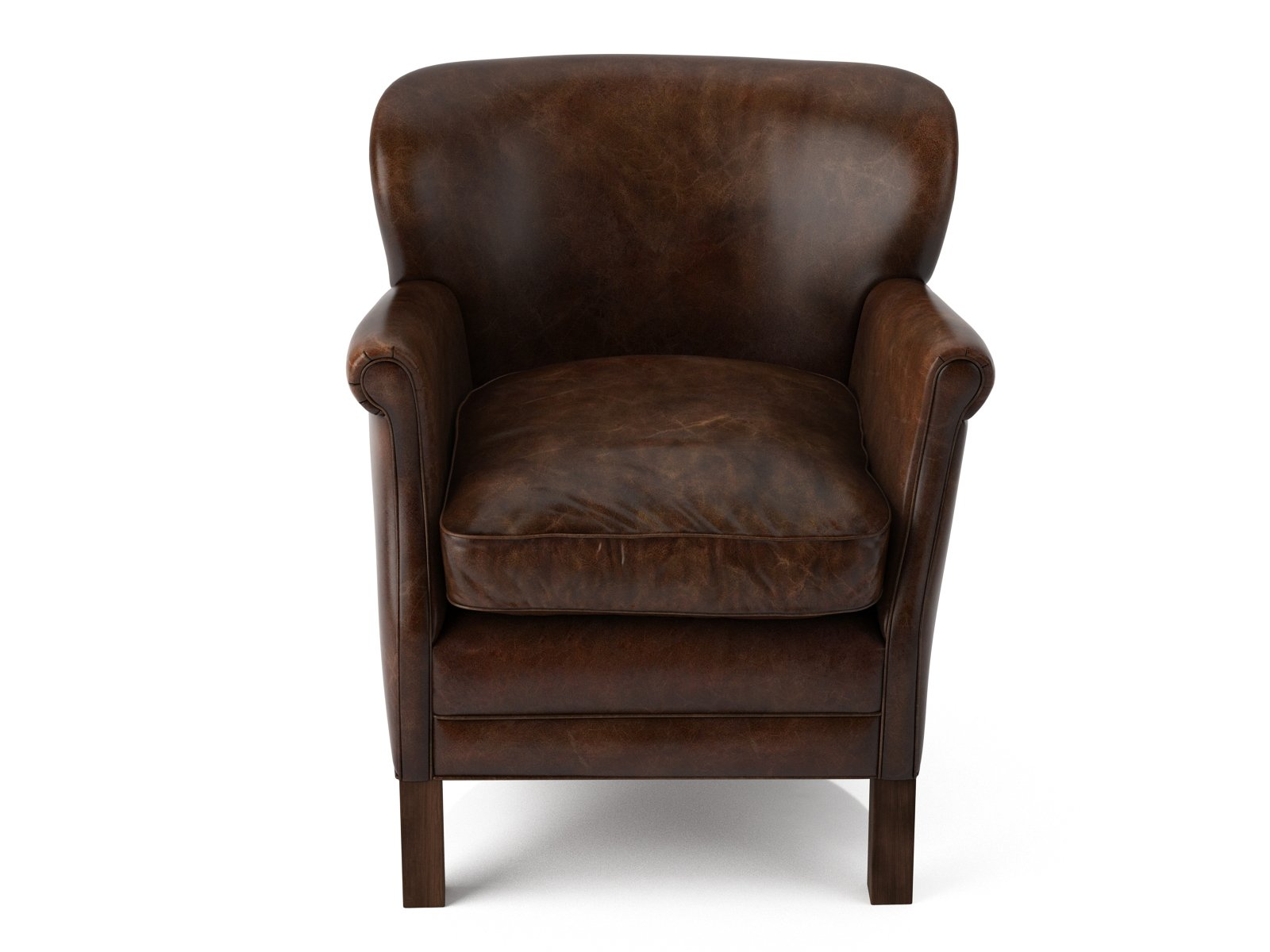 Professor 39 S Leather Chair 3d Model Restoration Hardware